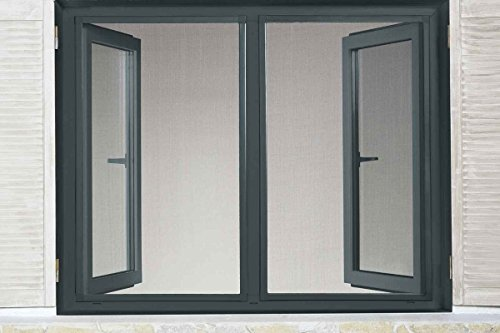 Powerfix Profi+ Alu Insektenschutz Fenster Slim 1,30 x 1,50m Anthrazit