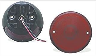 "Grote 50872 Red 4"" Universal Mount Stop Tail Turn Light (with License Window)"