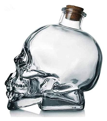 750ml Skull Head Wine Bottle Red Wine Glass Set Creative Decanter Skull Glass Glass Whiskey Wine Glass
