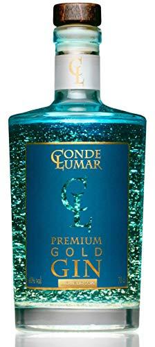3. Ginebra azul Conde Lumar Premium Gold Gin con oro