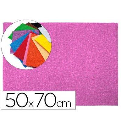 Liderpapel - Goma eva 50x70cm 60g/m2 espesor 2mm textura toalla rosa (10 unidades)