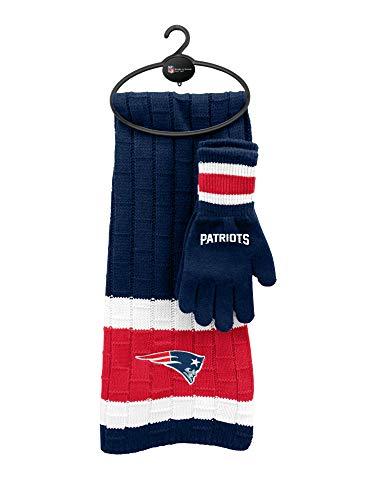 Littlearth NFL New England Patriots Schal und Handschuh Geschenk-Set