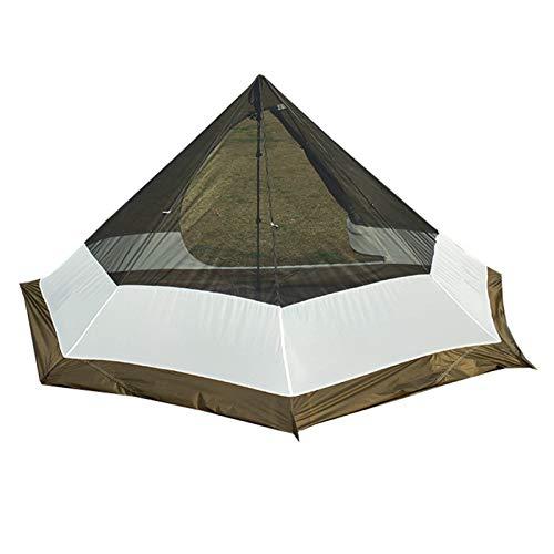 Camping Tienda interior ultraligero ultraligero al aire libre mosquito repelente malla de malla neta neta para coincidir camping tepee piramid tentwaterproof for camping pesca picnic Tienda tipi