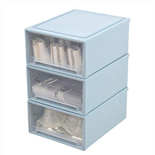 Boîte de rangement pour sous-vêtements Sous-vêtements de stockage box-PP, sous-vêtements transparent boîte de rangement en plastique placard tiroir type ménage sous-vêtements chaussettes soutien-gorge