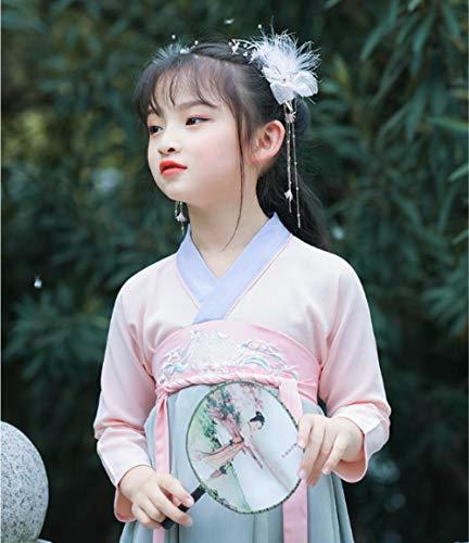 Hanfu Headdress Kinderen Chinese Stijl Bos Super Fee Schoonheid Veer Haarspeld Antieke Haaraccessoires Meisjes Oude Accessoires Ornamenten