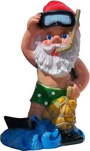 Rakso German Snorkel Scuba Diver Gnome, 14', Large UV Resistant Lawn Ornament