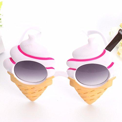 OULII Eiscreme Sommer Sonnenbrille Kostüm Gläser Stützen Lustige Neuheit Partei Bevorzugungen