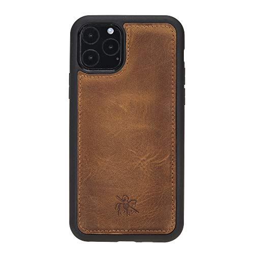Venito Lucca Leather Case Compatible with iPhone 11 Pro (5.8 inch) – Disinfected with a UV Sanitizer – Extra Secure with Padded Back Cover - Antique Brown