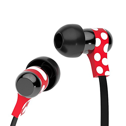Tribe Disney Auricolari I Cuffie in-Ear Stereo con Microfono per Cellulare - Minnie Mouse