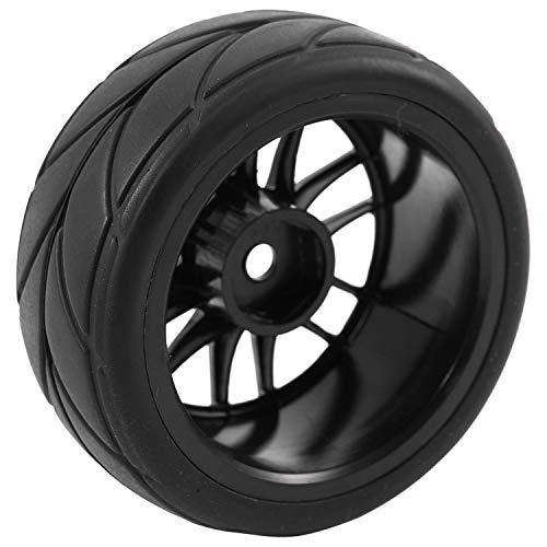 Deesen 4Pcs 1/10 Neumáticos De Goma RC Neumáticos De Automóvil De Carreras En El Camino La Rueda De Carretera para Hsp Hpi 9068-6081 RC Pieza De Automóvil