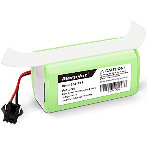 morpilot Batería para Conga Excellence 990, 14.4V 2600mah Li-Ion, Compatible con Conga Excellence y 990 Excellence y 950 1090, DEEBOT N79S N79, Eufy RoboVac 11 11S 30 30C 12 35C, IKOHS NETBOT S14 S15