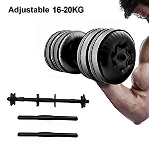 Adjustable Dumbbells Set Weight Adjustable Hand Weights Set Bodybuilding Exercise Equipment Water Dumbbells Kit 15kg-20kg