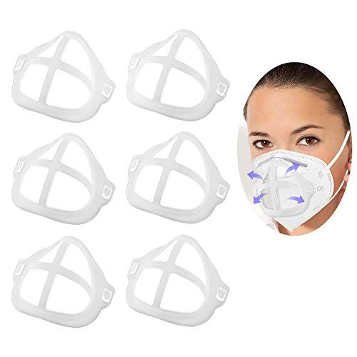 TOYMIS 5 Pièces Support 3D Portant Pour Masque, Cadre de Support Intérieur en Silicone, Protecteur de Maquillage, Créer Plus d'espace Respiratoire (Ivoire)