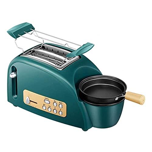 XTZJ 2 tostadores de rebanada con 5 ajustes de tono de pan y estante de calentamiento, tostadas de manera uniforme y rápida, tragamonedas extra anchas, tostadora de panecillos retro, función de descon