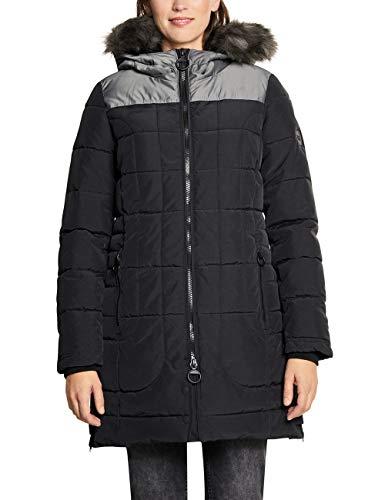 CECIL Damen 100538 Mantel, Mehrfarbig (Black 10001), X-Large (Herstellergröße:XL)