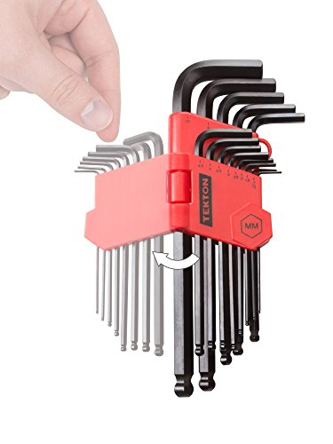 TEKTON Long Arm Ball End Hex Key Wrench Set, 13Piece (1.27-10 mm) | 25272