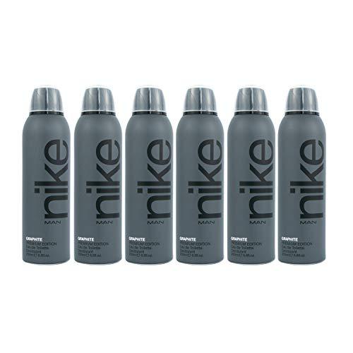 Nike Graphite Man Eau de Toilette Desodorante Spray 200ml - Pack de 6