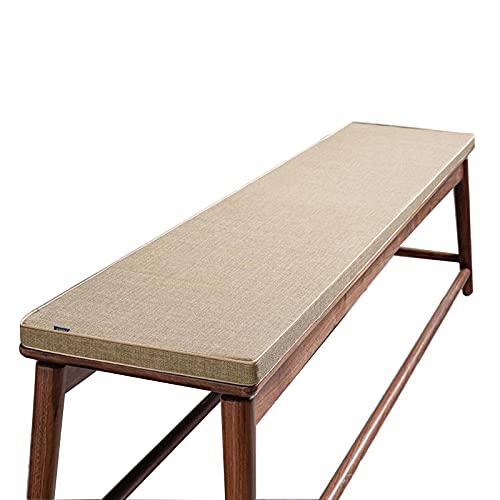 Zoomile Cojín para banco de 2/3/4 plazas, 100 cm, 150 cm, 180 cm, 200 cm, cojín de asiento de madera para interior y exterior, jardín, columpio o muebles de patio (lino, 35 x 200 cm)