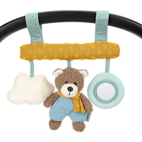 Sterntaler Spielzeug zum Aufhängen mit Klettverschluss, Bär Ben, Inklusive Rassel, Alter: Für Babys ab der Geburt, Mehrfarbig