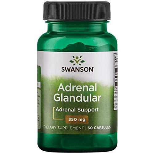 Swanson - Raw Adrenal Glandular 350 mg, 60 capsules - Unverarbeitetes Nebennieren Glandular Kapseln - Reine und Natüraliche Drüsengewebe Nebennierenrinde von Rindern