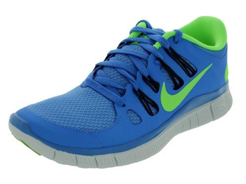 Nike Damen freies 5.0+ mesh-laufschuhe größe neu / display uk 3 3 uk die entfernung blau anthrazit-blau-tönung-flash lime