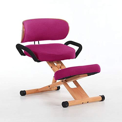 HCCX Ergonomica Sedia ergonomica, Regolabile in Altezza ergonomica Inginocchiare, Sedie Studio Ortopedico Postura,B1