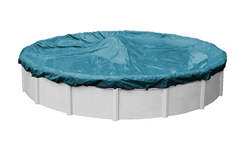 Pool Mate 5824-4 Guardian Winter Round Above-Ground Cover, 24-ft. Pool, Teal Blue