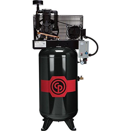 - Chicago Pneumatic Reciprocating Air Compressor - 5 HP, 80...