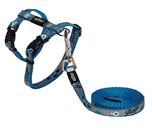 Rogz Catz ReflectoCat Lead and Harness, Blue