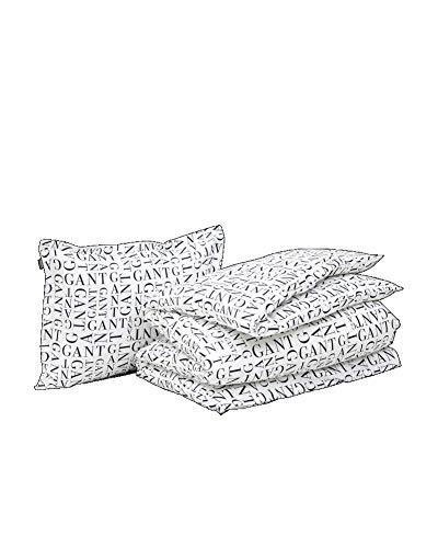 GANT Letter Bettwäsche-Set Yankee Blau Größe 155x220+80x80 Muster Buchstaben