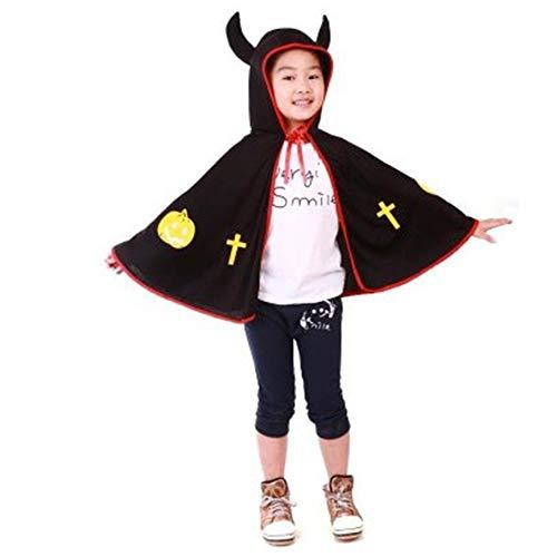 Peanutaod Halloween Produkte Cosplay kostüm Requisiten Kinder Zeigen Teufel hörner Mantel Halloween Teufel Horn Mantel Kinder
