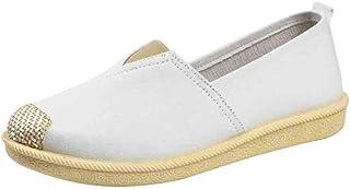 manadlian Loafers Mocassin Femmes Cuir Véritable Chaussures de Confort Semelle Souple Ballerines Bas Talon Compensé Chauss...