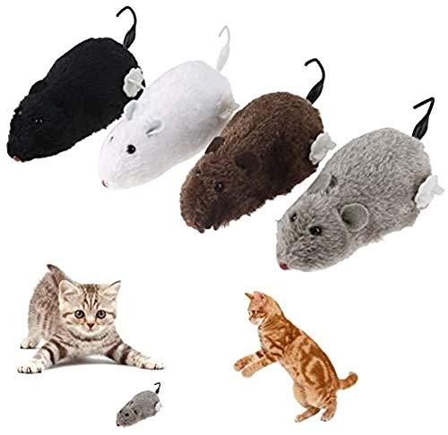 Agger 1PC aleatoria Juego del Gatito y Chase para Mascotas Juguetes mecánicos ratón de los Gatos de Cuerda a la Captura de la Felpa del ratón del Gato del Gato de Juguete