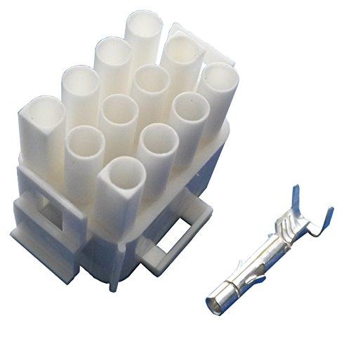 MATE-N-LOK Steckergehäuse 12 polig mit Buchsenkontakten (für 1,5 mm² bis 2,5 mm² Kabelquerschnitt) Stecker Wohnmobil Wohnwagen Caravan Elektroverteilung Elektroversorgung Schaudt Calira