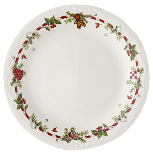 Hutschenreuther 02460-725492-10866 Weihnachtsleckereien Teller flach im Geschenkkarton, 26 cm