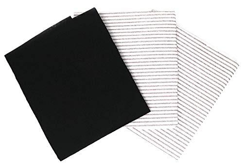 Universale Filter für Dunstabzugshauben, 2 Fettfilter mit Sättigungsanzeige & 1 Kohlefilter