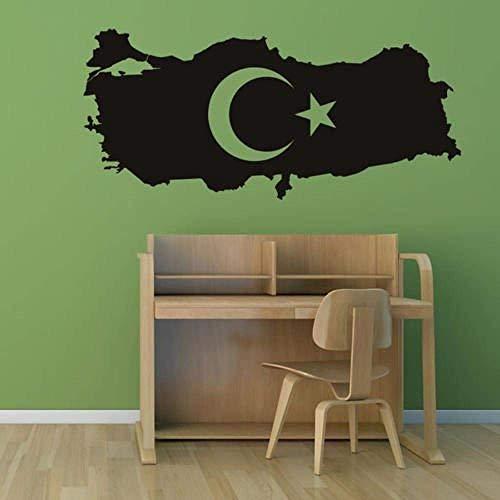 Muurstickers muurschilderingen Decals Turkije Kaart Spanje Poster Art Vinyl Ative Turkije Kaart 26X58cm