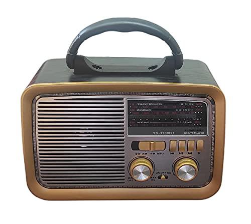Rádio Retro Vintage Am Fm Sw Usb Mp3 Bluetooth - Bivolt