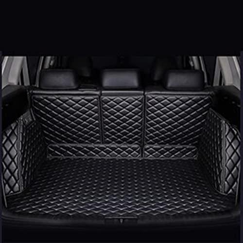 Kofferraummatte für Peugeot 301 307 Sw 508 Sw 2012 Kofferraumwanne Matte Ladekantenschutz Kofferraumschutz Autozubehör-All Black