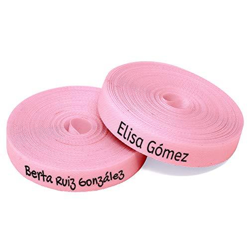 100 etiquetas personalizadas de colores para marcar la ropa - Etiquetas de tela Termoadhesiva - COLOR ROSA CLARO