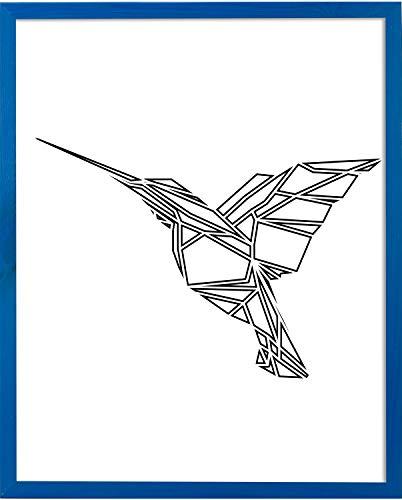 Postergaleria Bilderrahmen | 50x70 | Blau | Holz | Plexiglas | 8 Farben | 10 Größen | Posterrahmen | Fotorahmen