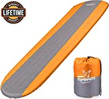 Self Inflating Sleeping Pad Lightweight - Compact Foam Padding Waterproof Inflatable Mat