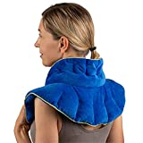 Floripa Wellness Heated Neck Wrap, Microwavable or Freezable for Either Hot or Cold Therapy, Weighted Neck and Shoulder Wrap, Lavender Scent, Weighs 3.75 Pounds, Designed by a Medical Doctor