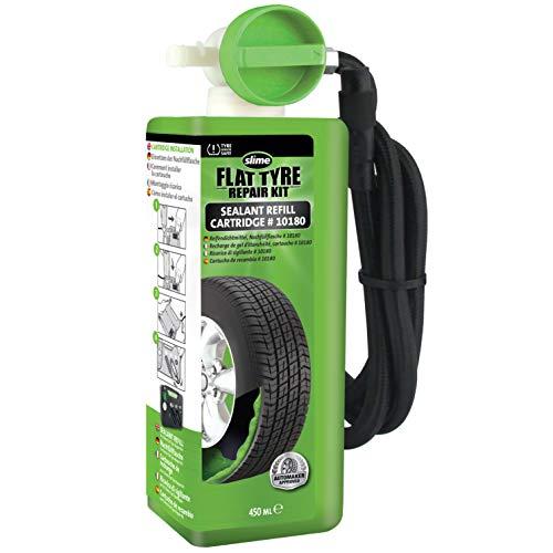 Slime 10180 Recarga del Kit de Reparación de Pinchazos de Neumáticos, Kit de Emergencia para Neumáticos, Recambio de Sellante, Apto para Coches y Otros Vehículos de Carretera, Reparación en 10min