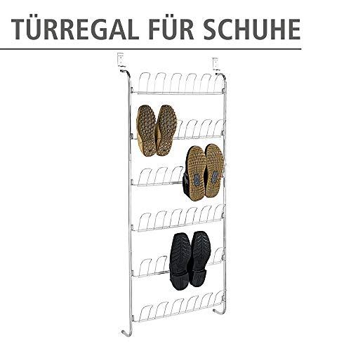 WENKO Türregal für Schuhe Schuhregal Schuhablage Türgarderobe Regal Flur