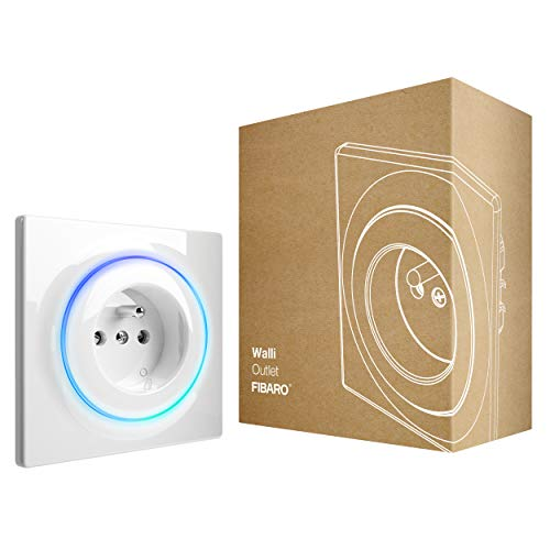 Fibaro Walli Outlet Type E/Z-Wave Plus Intelligent Socket, Smart Outlet, FGWOE-011