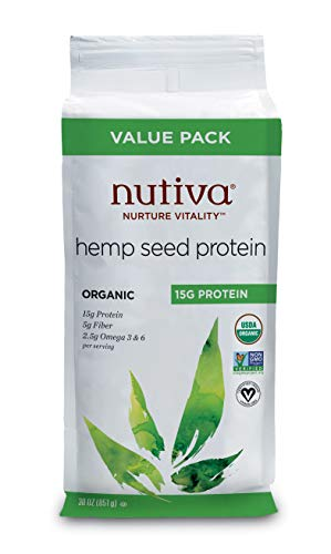 Nutiva Organic Cold-Pressed Hemp Seed Protein Powder, 15G Protein, 30 Ounce