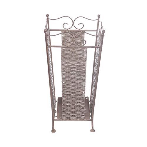 Portaombrelli in metallo, da 24X24 cm Marrone