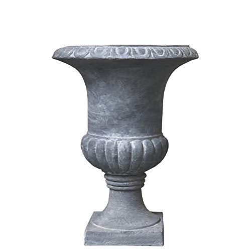 Chemin_de_Camp Vase Medicis aus Zementfasern, Grau, Durchmesser 30 cm