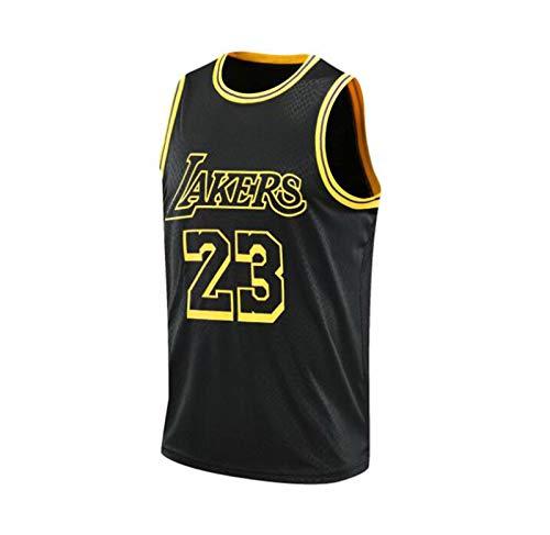 Sudadera de Baloncesto para Hombre 23# James Sudadera S-4XL,Negro,L